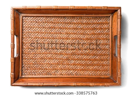 Wooden Tray - Isolated