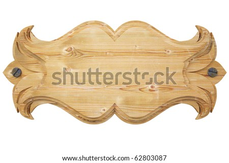 wooden wall panel. with clipping path.