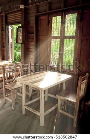 Wooden Window Background.  hard light