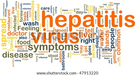 Word cloud concept illustration of  hepatitis virus