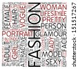 Word cloud - fashion - stock vector