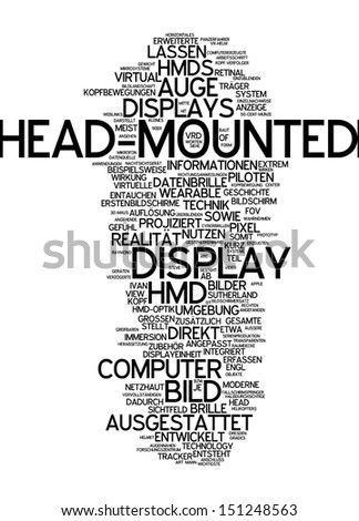 Word cloud -  Head-mounted display