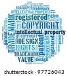 Word collage on Intellectual Property - stock vector