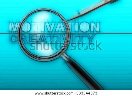 word expect - result and magnifying glass with pensil made in 2d software on gradient  background