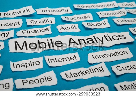 Word Mobile Analytics On Piece Of Paper Salient Among Other Related Keywords
