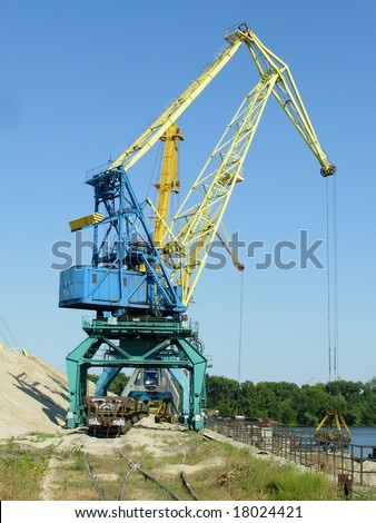 Work in river port