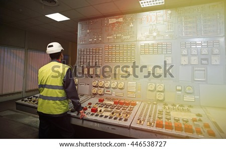 Work place in the system control room