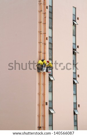 Pairs Male Arms Sticking Out Elevator Stock Photo