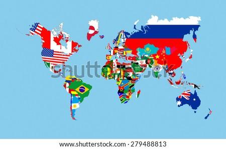 world map flags stock vector shutterstock