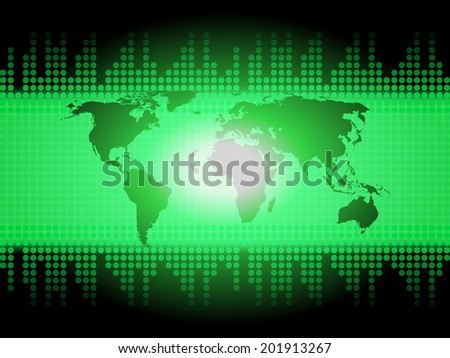 World Map Background Meaning Global Geography Or Worldwide Connections