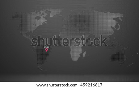 world map country name abstract dot design brazil