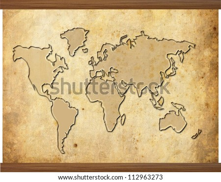World map old style vector format vectores en stock 221659636 world map in old grunge style with wooden frame gumiabroncs Choice Image