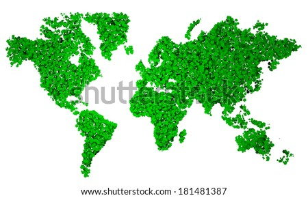 World Map, map, stylized, green pentagons