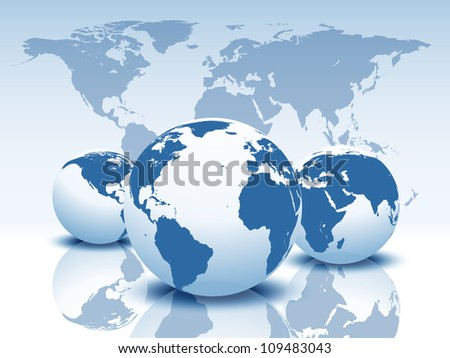 World map. Raster version, vector file id: 108035897