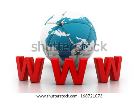 World wide web internet concept