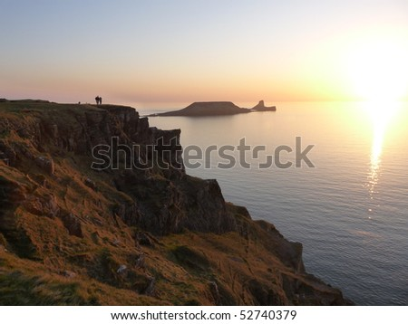worm's head at sunset