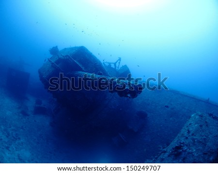 wreck ship in Okinawa