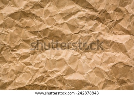 Wrinkled paper texture - Brown paper sheet