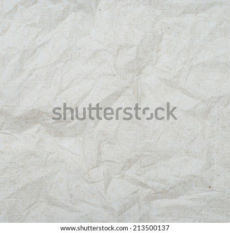 Wrinkled recycle napkin paper texture background, eco concept.