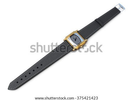 Wrist watch isolated on a white background. 3d rendering.