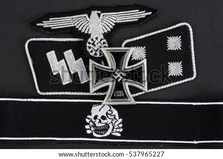 WW2 German Waffen-SS military insignia