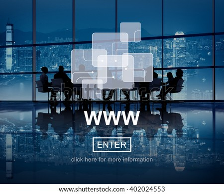 WWW Web Website Media Connection Internet Concept