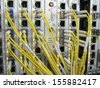 XFP communications equipment installed in the line card - stock photo