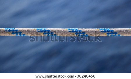Yacht rope on sea background