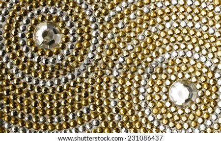 yellow and silver texture with crystals