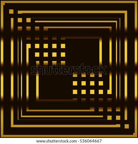 yellow-black geometric background with lines and squares