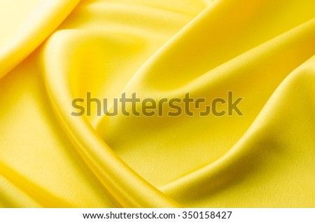 Yellow cloth drape