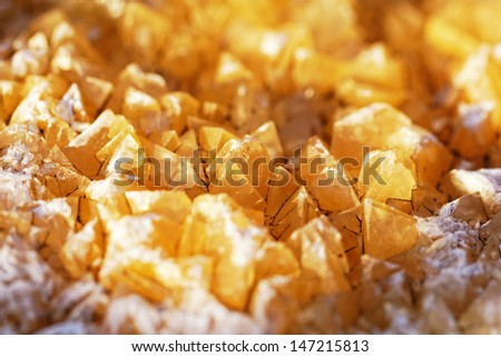 yellow crystals on the coast