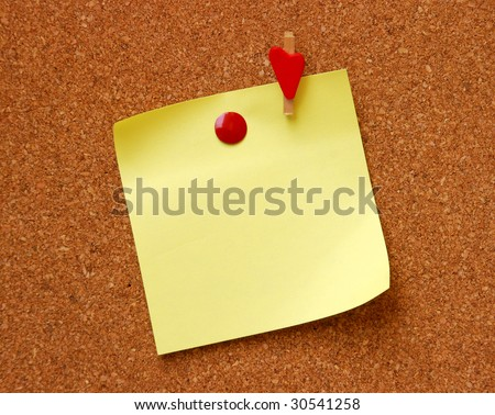yellow empty note pad