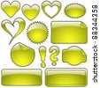 Yellow Glass Shapes - stock photo