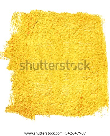 vector gold paint smear stroke stain stock vector 432253378