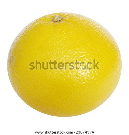 Yellow grapefruit isolated over a white background
