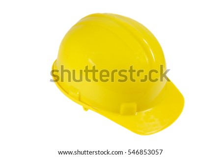 yellow hardhat isolated on a white background