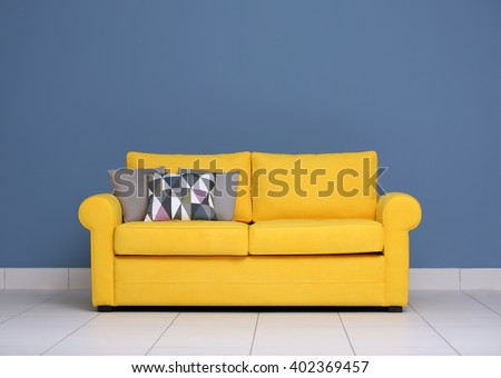 100 yellow sofa joybird eliot mid century modern yellow lea