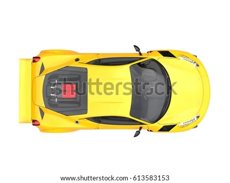 Modern Sports Cars Red Green Blue Stock Illustration