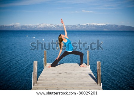 Yoga on Lake Tahoe