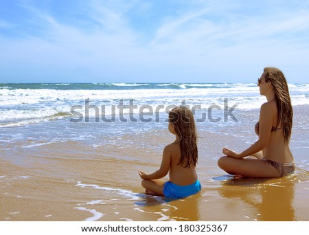 Yoga on the sea shore