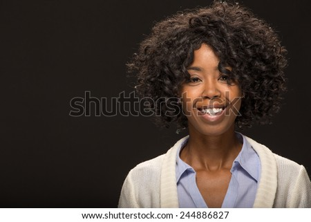 Young African American black woman smile face portrait
