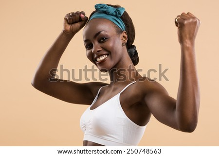 Young girls showing muscles opinion