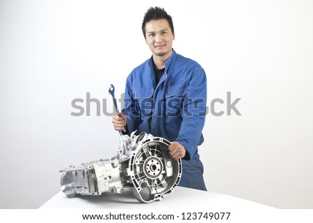 Young asian mechanic