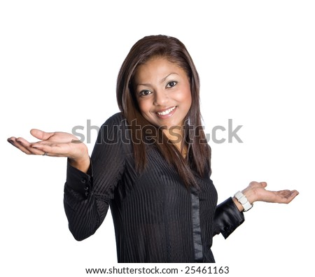 Young Asian woman shrugging shoulders
