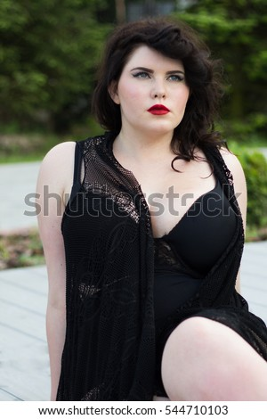Two Young Beautiful Plus Size Model Stock Photo 577120654 ...