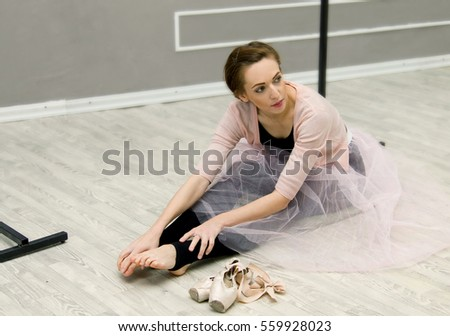 Young Worker Carpenter Laying Floor Laminated Stock Photo