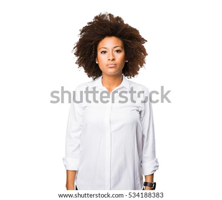 young black woman standing