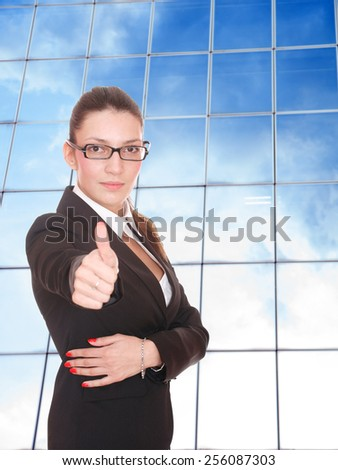 Young business woman at corporate
