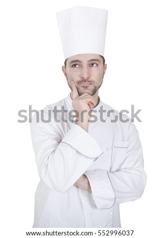 young caucasian chef gesturing with his hand